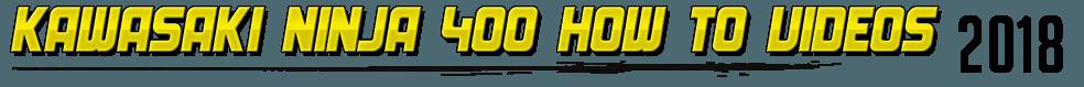 2018 Kawasaki Ninja 400 STG Project Bike How To Videos