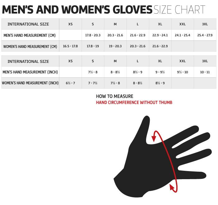 Alpine Motorcycle Gear >> Alpinestars Gloves Size Chart