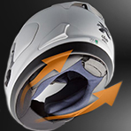 Arai Corsair X Nicky-7 Chin Curtain