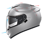 Shoei GT-Air Pendulum Helmet Ventilation