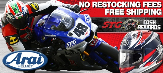 Save 10% on Arai Corsair X Helmets