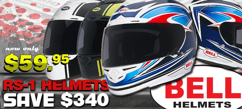 Save $360 on Bell RS-1 Helmets