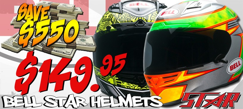 Save $550 on Bell Star Helmets