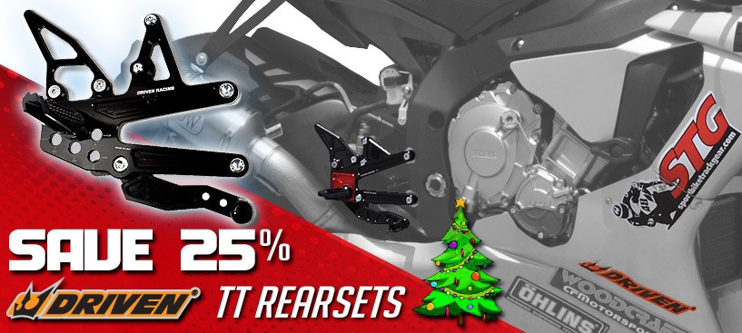 Save 25% on Driven TT Rearsets