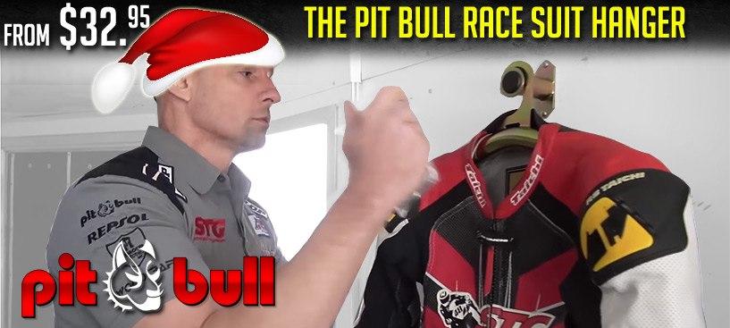 Pit Bull Race Suit Hanger