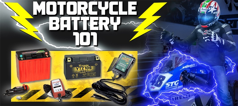 Motorcycle Battery 101 from SportbikeTrackGear.com