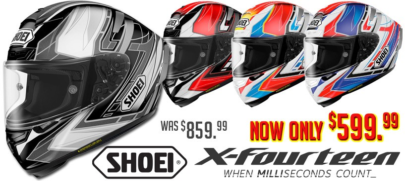 Shoei X-14 Assail $599 Save $260 Now