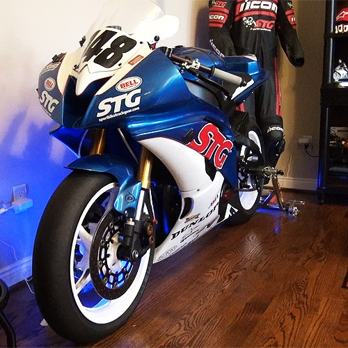 Store your motorcycle in the house where it belongs